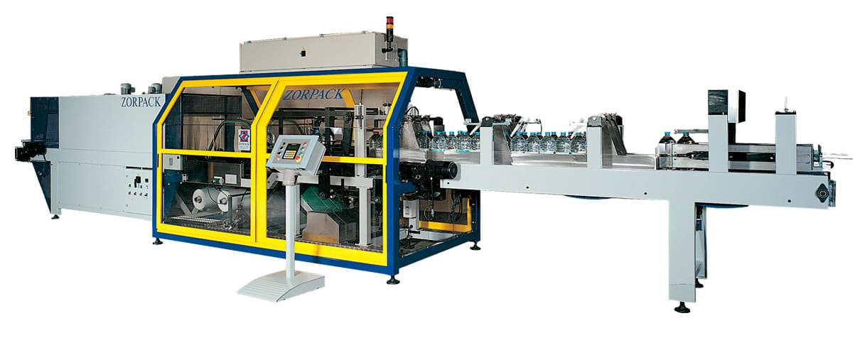 Shrink Bundling Line, only film, bottles, medium-high production (25-28 p/min) (35-40 p/min) (45-50 p/min)