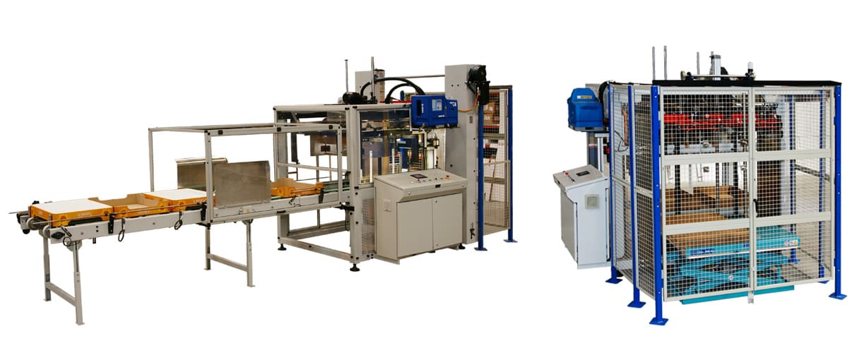 Tray forming machine, full pallet and half pallet size